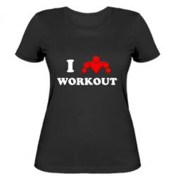 Жіноча футболка I love workout