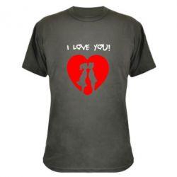 Камуфляжная футболка I love you - FatLine