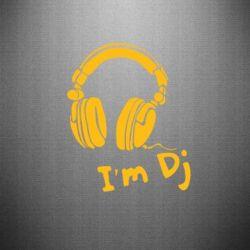 Наклейка I'm DJ - FatLine