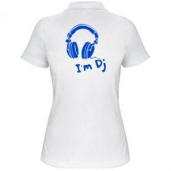 Женская футболка поло I'm DJ