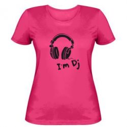 Женская футболка I'm DJ
