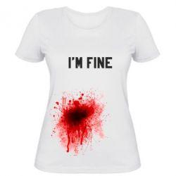 Женская футболка I'm fine - FatLine