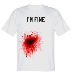 Мужская футболка I'm fine - FatLine