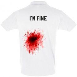 Футболка Поло I'm fine - FatLine