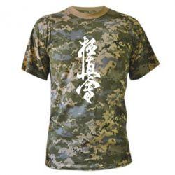 Камуфляжная футболка Иероглиф - FatLine