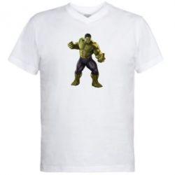 Мужская футболка  с V-образным вырезом Incredible Hulk 2 - FatLine