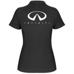 Женская футболка поло Infiniti - FatLine
