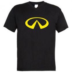 Мужская футболка  с V-образным вырезом Infinity - FatLine