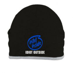Шапка Intel inside, idiot outside