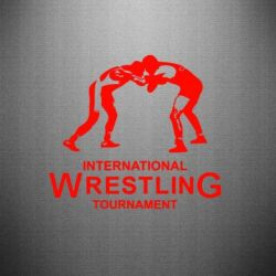 Наклейка International Wrestling Tournament - FatLine
