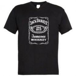 Мужская футболка  с V-образным вырезом Jack Daniel's Whiskey - FatLine