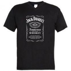 Мужская футболка  с V-образным вырезом Jack Daniel's - FatLine