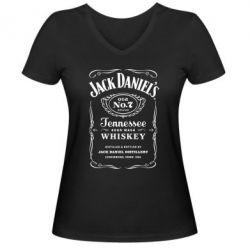 Женская футболка с V-образным вырезом Jack Daniel's - FatLine