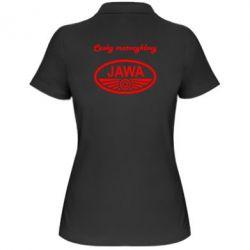 Женская футболка поло Java Cesky Motocyclovy - FatLine