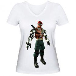Женская футболка с V-образным вырезом Jax