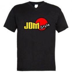 Мужская футболка  с V-образным вырезом JDM Style - FatLine