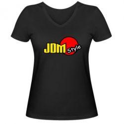 Женская футболка с V-образным вырезом JDM Style - FatLine