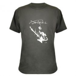 Камуфляжная футболка Jimi Hendrix афтограф - FatLine