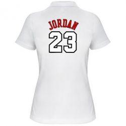 Женская футболка поло Jordan 23 - FatLine