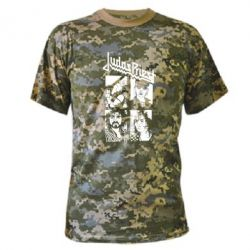 Камуфляжная футболка Judas Priest - FatLine