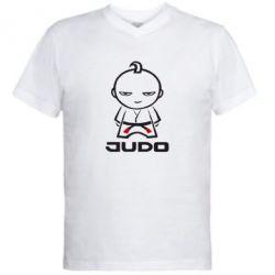Мужская футболка  с V-образным вырезом Judo Fighter - FatLine