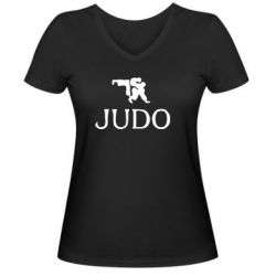 Женская футболка с V-образным вырезом Judo - FatLine
