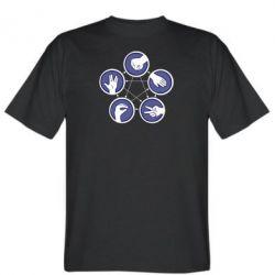 Мужская футболка Камень, ножницы, бумага, ящерица, спок - FatLine