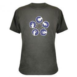 Камуфляжная футболка Камень, ножницы, бумага, ящерица, спок - FatLine