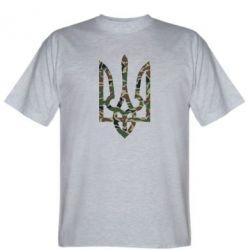 Мужская футболка Камуфляжный герб Украины - FatLine
