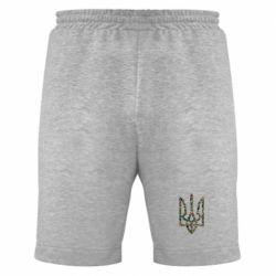 Мужские шорты Камуфляжный герб Украины - FatLine