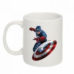Кружка 320ml Капитан Америка - FatLine