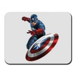 Коврик для мыши Капитан Америка - FatLine