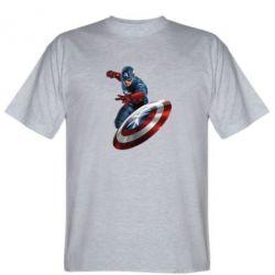 Мужская футболка Капитан Америка - FatLine