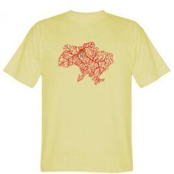 Мужская футболка Карта України з серцем - FatLine