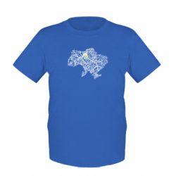 Детская футболка Карта України з серцем - FatLine