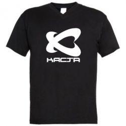 Мужская футболка  с V-образным вырезом Каста - FatLine