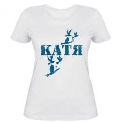 Женская футболка Катя