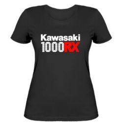 Женская футболка Kawasaki 1000RX - FatLine