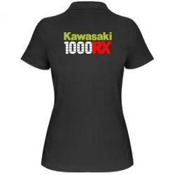 Женская футболка поло Kawasaki 1000RX - FatLine