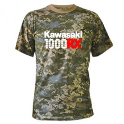 Камуфляжная футболка Kawasaki 1000RX - FatLine