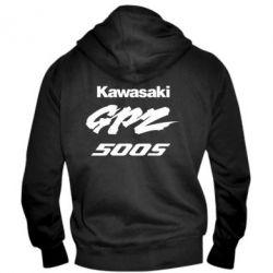 Мужская толстовка на молнии Kawasaki GPZ500S - FatLine
