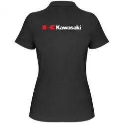 Женская футболка поло Kawasaki Logo - FatLine