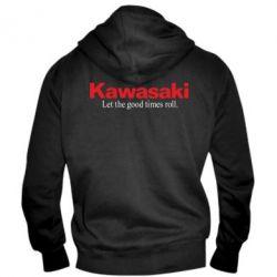 Мужская толстовка на молнии Kawasaki. Let the good times roll.