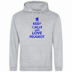 Толстовка Keep calm an love peugeot - FatLine
