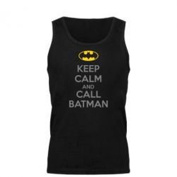 Мужская майка KEEP CALM and CALL BATMAN - FatLine