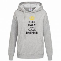 Женская толстовка KEEP CALM and CALL BATMAN - FatLine