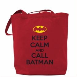 Сумка KEEP CALM and CALL BATMAN - FatLine