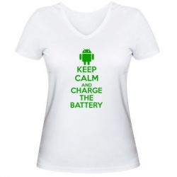 ������� �������� � V-�������� ������� KEEP CALM and CHARGE BATTERY - FatLine