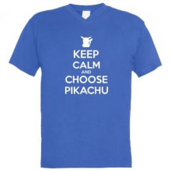 ������� ��������  � V-�������� ������� Keep Calm and Choose Pikachu