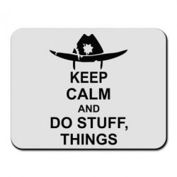 Коврик для мыши KEEP CALM AND DO STUFF - FatLine